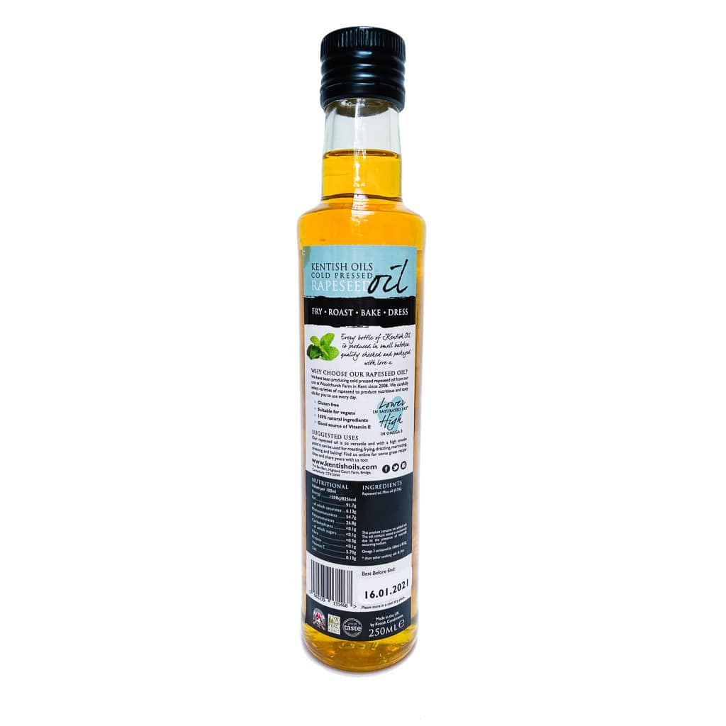 Kentish Oils Cold Pressed Rapeseed Oil Blended With Mint