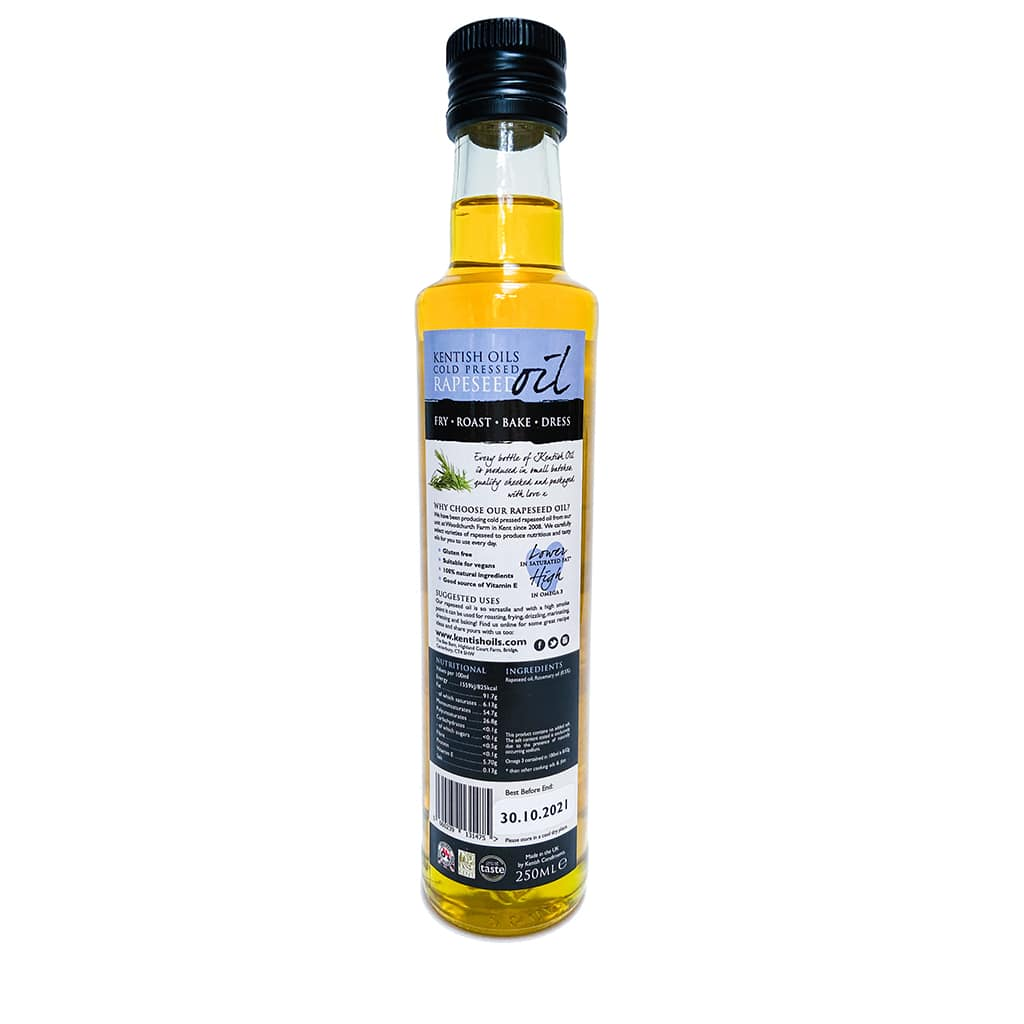 Kentish Oils Cold Pressed Rapeseed Oil Blended With Rosemary